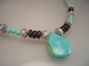 Turquoise & Black Necklace