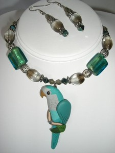 Blue Quaker Necklace