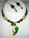 Black Headed Caique Necklace